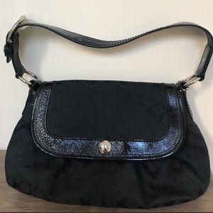 Coach Soho Signature Black Shoulder Bag
